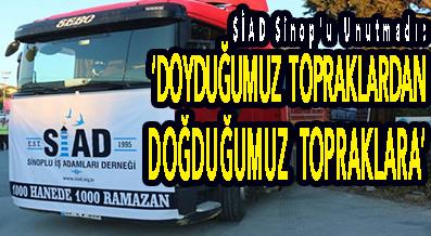 """<center> SİAD Sinop'u Unutmadı: </center><center><font color='blue'>""""DOYDUĞUMUZ TOPRAKLARDAN DOĞDUĞUMUZ TOPRAKLARA"""" </font></center>"""