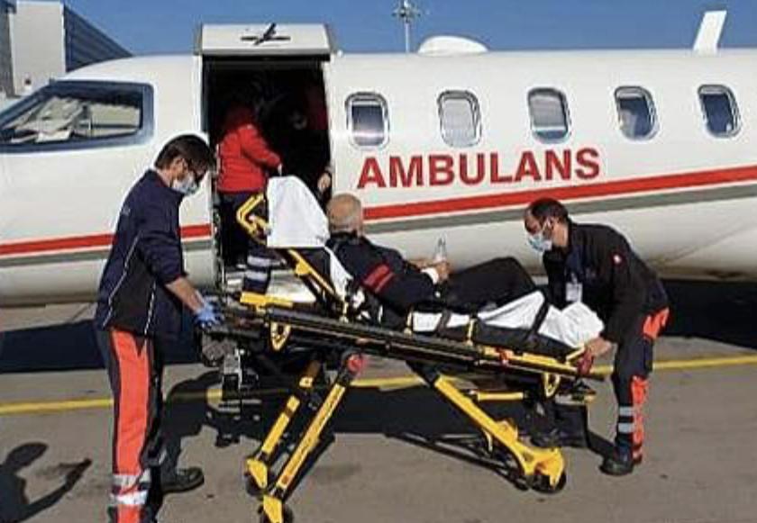 <center> Çatalzeytinli Hasta̧ Ambulans Uçakla </center><center><font color='blue'> İSVİÇRE'DEN GETİRİLDİ </font></center>