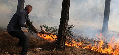 <center> Orman Yangınları Artarak Sürüyor: </center><center><font color='blue'> SON 2 HAFTADA ÜLKE GENELİNDE 45 YANGIN </font></center>