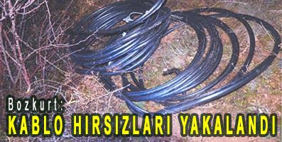<center> Bozkurt: </center><center><font color='blue'> KABLO HIRSIZLARI YAKALANDI </font></center>