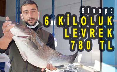 <center> Sinop: </center><center><font color='blue'>6 KİLOLUK LEVREK 780 TL </font></center>