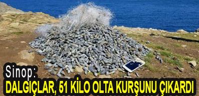 <center> Sinop: </center><center><font color='blue'> DALGIÇLAR, 51 KİLO OLTA KURŞUNU ÇIKARDI </font></center>