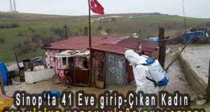 <center> Sinop'ta 41 Eve girip-Çıkan Kadın </center><center><font color='blue'>200 KİŞİYE KORONAVİRÜS BULAŞTIRDI </font></center>