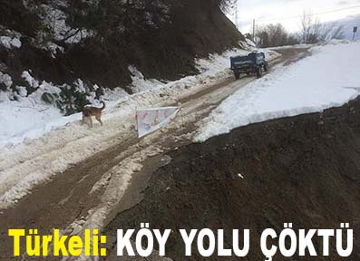 <center> Türkeli: </center><center><font color='blue'> KÖY YOLU ÇÖKTÜ </font></center>