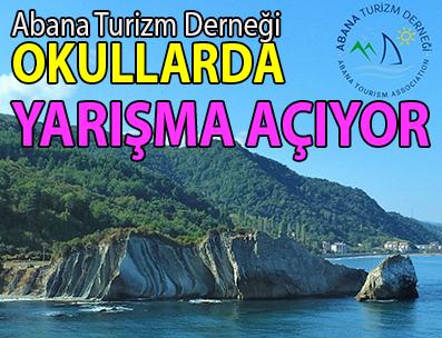 <center> Abana Turizm Derneği </center><center><font color='blue'> OKULLARDA YARIŞMA AÇIYOR </font></center>