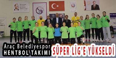 <center> Araç Belediyespor HENTBOL TAKIMI </center><center><font color='blue'> SÜPER LİG'E YÜKSELDİ </font></center>