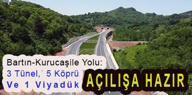 <center> Bartın-Kurucaşile Yolu: </center><center><font color='blue'>3 Tünel,  5 Köprü Ve 1 Viyadük AÇILIŞA HAZIR </font></center>
