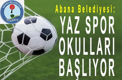 <center> Abana Belediyesi: </center><center><font color='blue'> YAZ SPOR OKULLARI BAŞLIYOR </font></center>