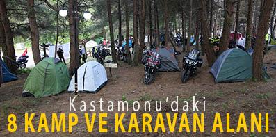 <center> Kastamonu'daki  </center><center><font color='blue'> 8 YER KAMP VE KARAVAN ALANI  </font></center>