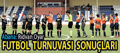 <center> Abana: Rıdvan Oyar  </center><center><font color='blue'> FUTBOL TURNUVASI SONUÇLARI </font></center>