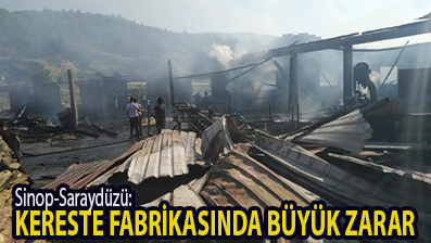 <center> Sinop-Saraydüzü: </center><center><font color='blue'> KERESTE FABRİKASINDA BÜYÜK ZARAR </font></center>