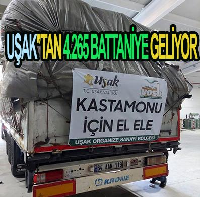 UŞAK'TAN 4.265 BATTANİYE GELİYOR