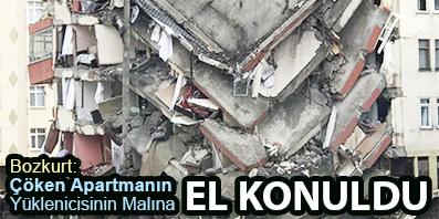 <center> Bozkurt: Çöken Apartmanın Yüklenicisinin Malına </center><center><font color='blue'> EL KONULDU </font></center>
