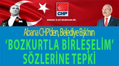 <center> Abana CHP'den, Belediye Bşk'nın </center><center><font color='blue'>'BOZKURTLA BİRLEŞELİM' SÖZLERİNE TEPKİ </font></center>